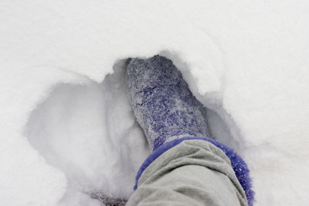 12-09-015 Ugg footprint in snow
